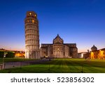 night view of pisa cathedral ... | Shutterstock . vector #523856302