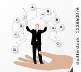 businessman in suit.... | Shutterstock .eps vector #523860076