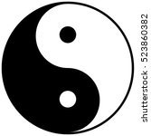 icon yin yang.simple black and... | Shutterstock .eps vector #523860382