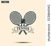 tennis icon | Shutterstock .eps vector #523864042