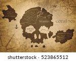skull island map | Shutterstock . vector #523865512