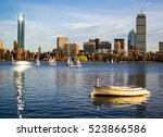 Stock photo the boston skyline one a beautiful summer day 523866586
