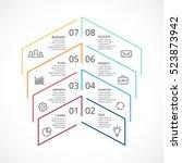 vector up arrows minimal... | Shutterstock .eps vector #523873942