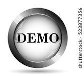 demo icon. demo website button... | Shutterstock . vector #523877356