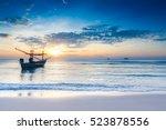 an impressive sunrise over the... | Shutterstock . vector #523878556