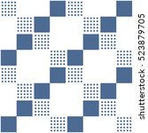 seamless geometric pattern.... | Shutterstock .eps vector #523879705
