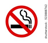 no smoking sign on white... | Shutterstock .eps vector #523888762