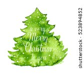 a very merry christmas to you... | Shutterstock .eps vector #523894852