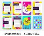 template. set of trendy posters ...   Shutterstock .eps vector #523897162