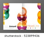 abstract circles  annual report ... | Shutterstock . vector #523899436