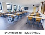 Small photo of Empty classroom for biology lesson on secondary school