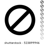 prohibitory sign   black vector ... | Shutterstock .eps vector #523899946