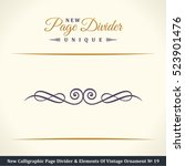 new calligraphic page divider... | Shutterstock .eps vector #523901476