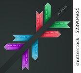set of ribbon banners on dark...   Shutterstock .eps vector #523904635