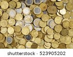 Background Of Euro Coins Money.