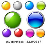 vector buttons | Shutterstock .eps vector #52390867