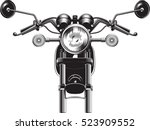 chopper motorcycle front side... | Shutterstock .eps vector #523909552
