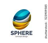 sphere abstract logo template. ... | Shutterstock . vector #523909585