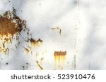 old rusty white metal background | Shutterstock . vector #523910476