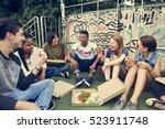 people friendship togetherness... | Shutterstock . vector #523911748