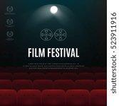 cinema  film festival abstract... | Shutterstock . vector #523911916