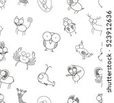 vector animal seamless pattern | Shutterstock .eps vector #523912636