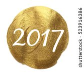 2017 golden circle vector... | Shutterstock .eps vector #523916386
