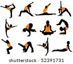 yoga poses | Shutterstock .eps vector #52391731