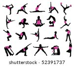 sports silhouettes | Shutterstock .eps vector #52391737