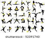 sports silhouettes | Shutterstock .eps vector #52391740