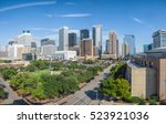 panoramic aerial day view of... | Shutterstock . vector #523921036