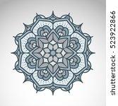 vector abstract flower mandala. ... | Shutterstock .eps vector #523922866