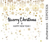 cute merry christmas background ... | Shutterstock .eps vector #523925326