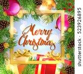 christmas. banner. | Shutterstock .eps vector #523926895