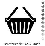 shopping basket   black vector... | Shutterstock .eps vector #523928056