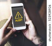 Small photo of Danger ALert Warning Notification Beeware Reminder Exclamation Concept