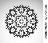 vector abstract flower mandala. ... | Shutterstock .eps vector #523928986