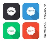 new label vector icon   colored ... | Shutterstock .eps vector #523932772