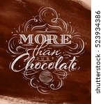 poster chocolate in vintage... | Shutterstock .eps vector #523934386