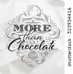 poster chocolate in vintage... | Shutterstock .eps vector #523934416