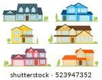 vector flat icon suburban... | Shutterstock .eps vector #523947352