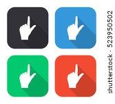 pointing finger vector icon  ...   Shutterstock .eps vector #523950502