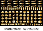 ribbon banner label gold vector ... | Shutterstock .eps vector #523950622
