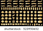 label ribbon banner gold vector ... | Shutterstock .eps vector #523950652