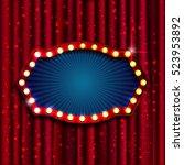 retro light sign. vintage style ... | Shutterstock .eps vector #523953892
