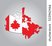 map of canada with separable... | Shutterstock .eps vector #523962466