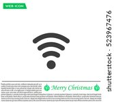wi fi  web icon. vector design | Shutterstock .eps vector #523967476