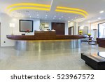 reception area with reception... | Shutterstock . vector #523967572