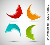vector arrow banners set.... | Shutterstock .eps vector #523973812