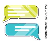 phone messages  sms  dialog box ... | Shutterstock .eps vector #523974592